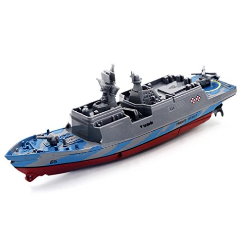- Remote Control Challenger Aircraft Carrier RC Boat Warship Battleship CE Portable Toys Birthday Gift Pool Toy (BLUE)