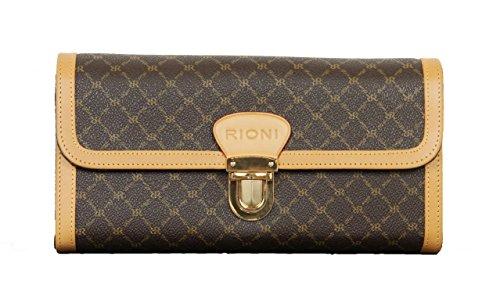 Rioni Signature PVC Clutch Wallet With Removable Shoulder Strap