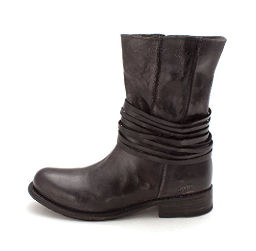 Bed|Stu Womens Rampton Leather Round Toe Ankle Fashion Boots, Graphito, Size 7.0