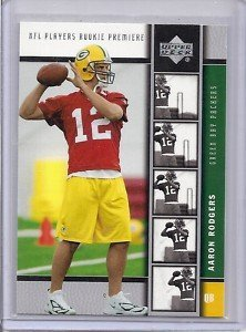 (Aaron Rodgers Green Bay Packers 2005 Upper Deck NFL Players Premiere Rookie Card #16 )