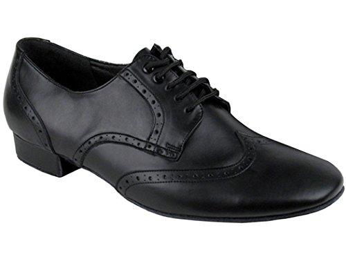 Sehr feine Schuhe Männer Standard & Smooth Spectator Swing Ballroom Schuhe Schwarzes Leder