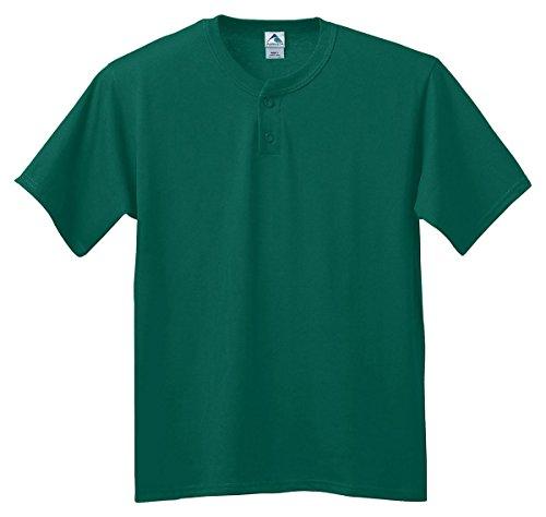 Augusta Sportswear Six-ounce two-button baseball jersey - DARK GREEN - 2XL by Augusta Sportswear