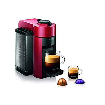 Nespresso GCC1-US-BK-NE VertuoLine Evoluo Deluxe Coffee and Espresso Maker, Black