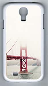 San Francisco Golden Gate Fog Mist PC Hard Case Cover For Samsung Galaxy S4 SIV I9500 Case and Cover White