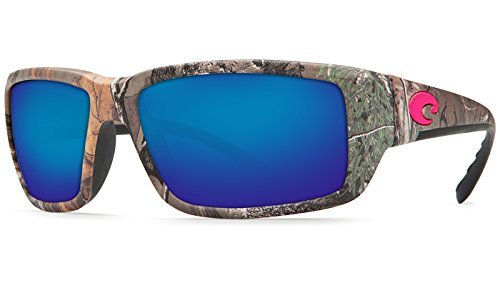 Costa Del Mar Fantail Sunglasses, Realtree Xtra Camo Pink, Blue Mirror 580 Plastic - Sunglasses Costa Pink Mar Del