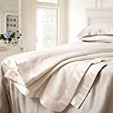 ElleSilk Pure Silk Blanket, The Highest Grade (6A) Long Fiber Silk, Naturally Breathable, Ivory, King Size, 108 x 90 Inches