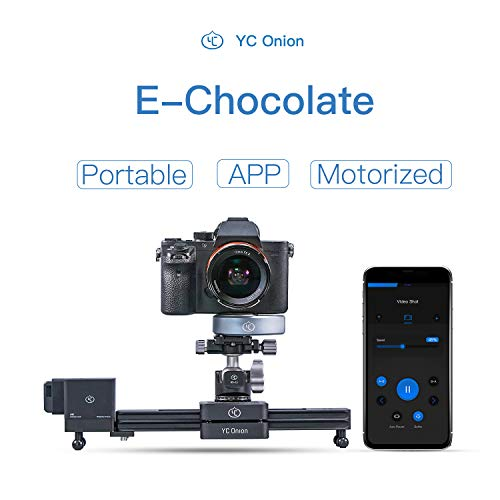 "Camera Slider Motorized APP Control Aluminum Alloy Retractable Portable for DSLR Camera Camcorder Smart Phone GoPro 12""/30cm - YC Onion"