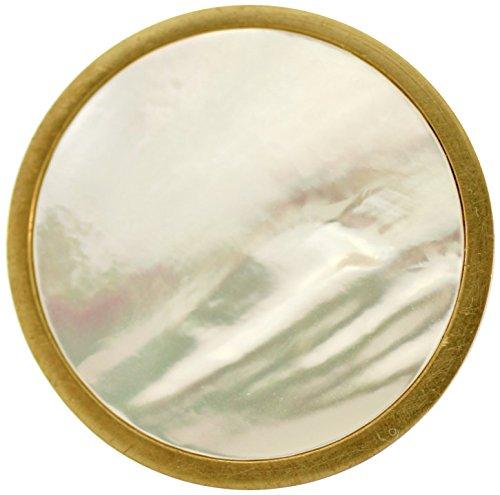 Pearl Nickel Knob (Stephen D. Evans Mother of Pearl Knob, Polished Nickel)