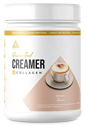 New!! Grass-Fed Keto Creamer Plus Protein - Grass Fed Butter - Grass Fed Collagen - Grass Fed Whey - Pure C8 MCT Oil - Perfect Keto Bomb BPC Creamer - Ketogenic Supplement Ketone Support (Original)