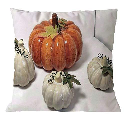 YOcheerful Halloween Pumpkin Throw Pillow Case Funny Sofa Decorative (F,45cm45cm)