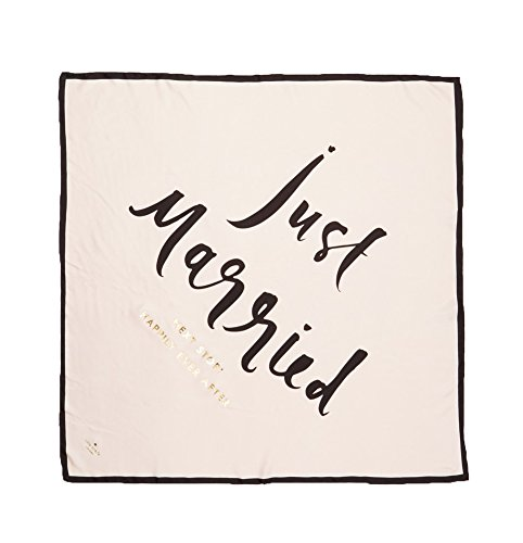 Kate Spade New York Women's Wedding Belles Just Married Silk Square, Multi, One Size by Kate Spade New York