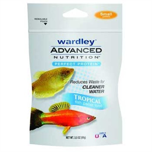 Hartz Wardley Advanced Nutrition Perfect Protein Tropical Fish Food Small Pellets, 3-1/2-Ounce by HARTZ