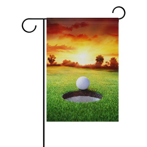 rt Golf Ball Garden Flag 12 X 18 Inch Polyester for Home Garden Decor (Golf Garden Flag)