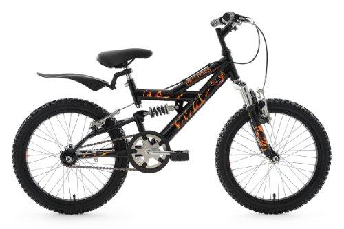 KS Cycling Kinder Fahrrad Mountainbike Helldogs RH 32 cm, Schwarz, 18, 806B