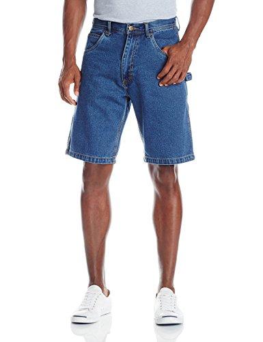 (Key Apparel Men's Premium Enzyme Washed Denim Shorts, Indigo, W38)