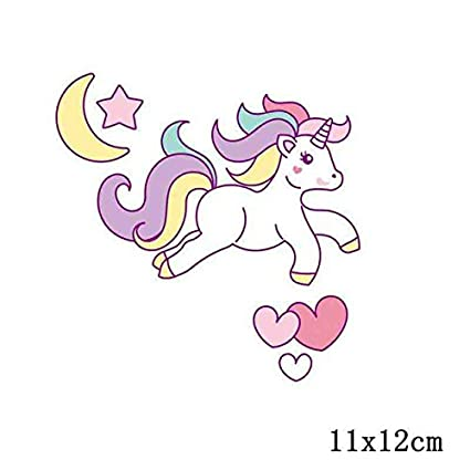 Pinkdose® Pinkdose Gun Metal: Prajna Kawaii Animals Unicorn Iron On