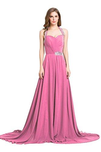 Rüschen Schleppe Sweep Rose lange Emily mit Abendkleid formale schulterfreies Beauty HqUwEfxtA8