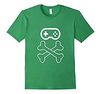 Men's We Love Gaming, Controller Skull Gamer pirate t-shirt 3XL Grass