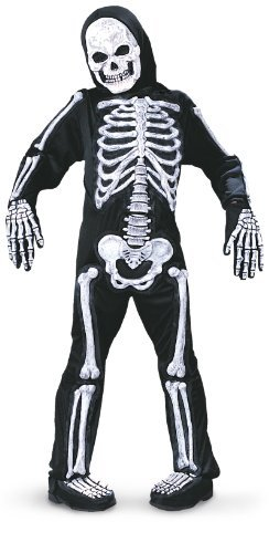 Fun World Spooky Skeleton Child Halloween Costume (Large (12-14)) -
