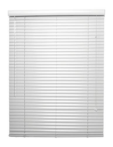 spotblinds Custom Made 1 Inch Choice Aluminum Mini Blinds 18 Inches to 29 Inches in Width by 79 Inches to 96 Inches in Length (This Blind Will be 27″ W x 82″ L) White Grey Black Brown Red Blue