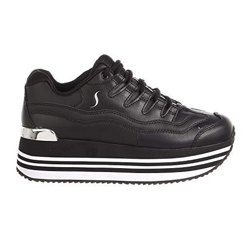 - Skechers Street Highrise High-Energy Womens Platform Sneaker Black 7