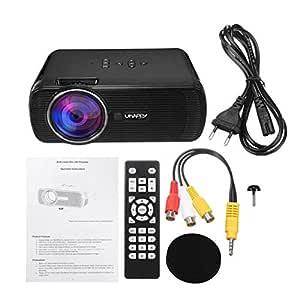 Proyector LED, 7000 lúmenes proyector de vídeo portátil Mini HD ...