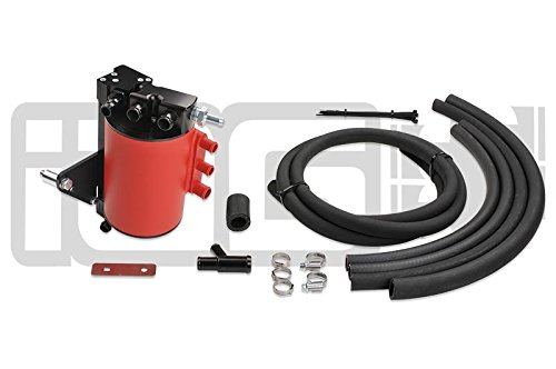 IAG Air Oil Separator Street Series Aos for 06-07 Subaru WRX 05-07 STi Red