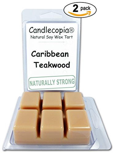 Candlecopia Caribbean Teakwood Strongly Scented Hand Poured
