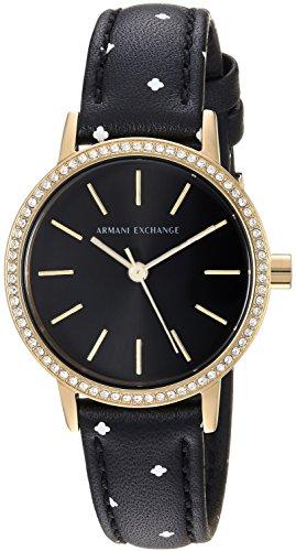 Armani Exchange Women's Black Leather Watch AX5543