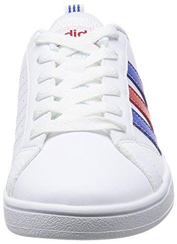 adidas Vs Advantage K, Zapatillas de Deporte Unisex Niños Blanco (Ftwbla / Azul / Escarl)