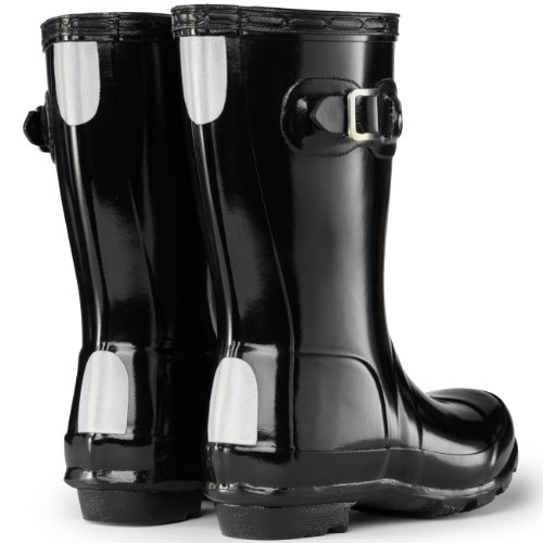 Hunter Original Jungen Kids Gloss Fest Gummistiefel Wellington Boots - Schwarz - 38