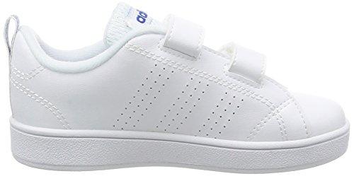 Adidas VS ADVANTAGE CLEAN CMF INF–Schuhe deportivaspara Kinder, Weiß–(Ftwbla/Ftwbla/Blau),-25