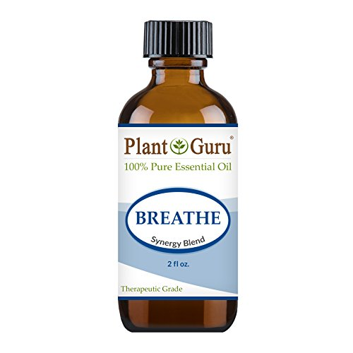 Breathe Respiratory Synergy Blend Essential Oil. 2 oz. 100% Pure Therapeutic Grade Sinus Relief Blend, Breathing Issues, Allergy Relief, Congestion Relief, Cough, Cold and Flu, Aromatherapy (Sinus Aid)