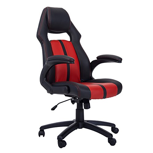 41jDoNavyZL - Merax-Ergonomic-Racing-Style-PU-Leather-Gaming-Chair-for-Home-and-Office-Red