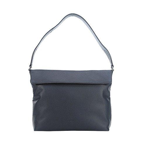 Bree Cary 12, Black, Hobo S, Shoppers y bolsos de hombro Mujer, Schwarz (Black), 10x24x32 cm (B x H T) Azul (Navy)