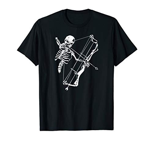Skeleton With Bow T-shirt Skull Archery Hunting Lovers Gift