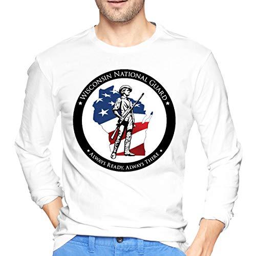 (Men's 3D Sweatshirts Pullover Print Hoodies Wisconsin National Guard White)