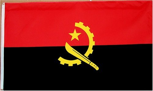 Angola National Country Flag - 3 foot by 5 foot Polyester (New)