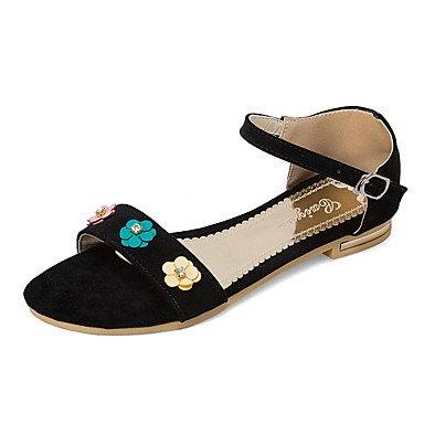 Zormey Sandalias De Mujer Zapatos Primavera Verano Otoño Club D'Orsay &Amp; Exterior De Piel Sintética De Dos Piezas Planas De Vestir Casual Talón Flor De Hebilla US8 / EU39 / UK6 / CN39