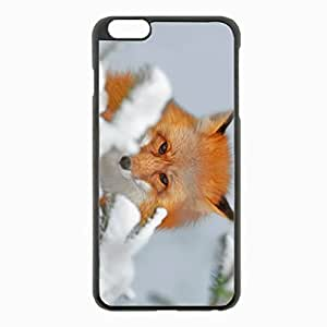 iPhone 6 Plus Black Hardshell Case 5.5inch - snow ears nose Desin Images Protector Back Cover