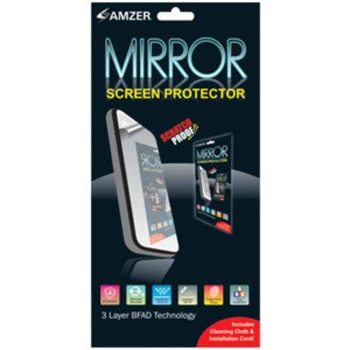 Amzer Mirror Screen Protector with Cleaning Cloth for Sidekick LX - Screen Sidekick Protector