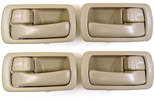 PT Auto Warehouse TO-2532E-QS - Inside Interior Inner Door Handle/Trim, Beige/Tan - 2 Left, 2 Right ()