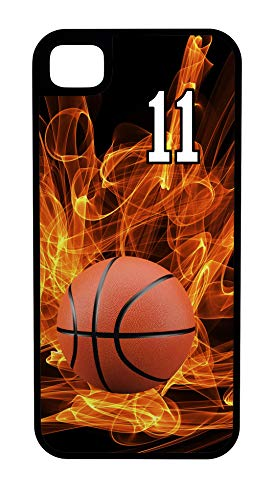 iPhone 8 Plus 8+ Case Basketball Ball Handler Customizable Tough Case by TYD Designs in Black Plastic and Black Rubber with Team Number - Colonels Basketball