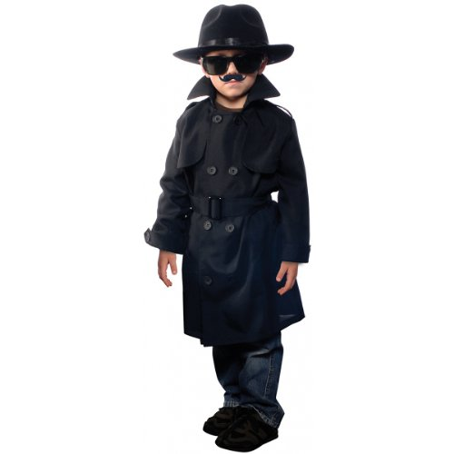 Aeromax Jr. Secret Agent with accessories, Size Youth Large, OSFM ages 9-12