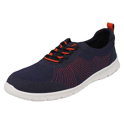 Low Step Textile Sneakers WoMen Top 3 Clarks Navy 5 Allenabay UK Blue Black fntqxwaw