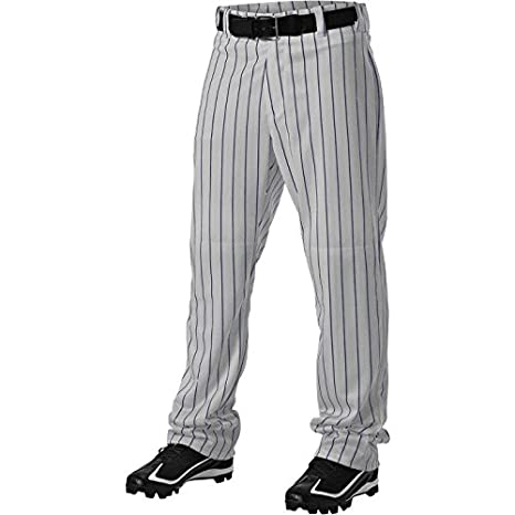 6c9dcc7f065 Amazon.com   Alleson Youth Pinstripe Baseball Pant   Sports   Outdoors