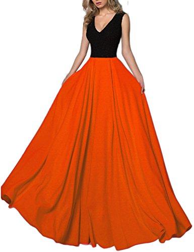 orange and black formal dresses - 3