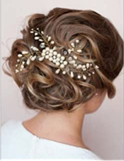 Braut haarschmuck mit perlen  Musuntas 6 Stk. Perlen Strass Hochzeit Brautschmuck Braut ...