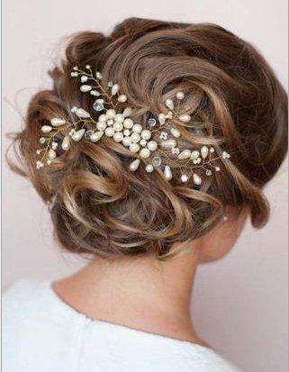 Braut haarschmuck strass  Musuntas Eleganter Luxus Retro elegant Damen Perlen Strass ...