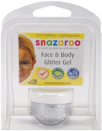 (Snazaroo Glitter Gel 12ml Clam Pack - Silver)